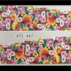 Other - NWT Nail Art Waterslide Tattoo Multi Color Flowers